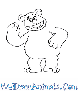 300x350 How To Draw Fozzie Bear From The Muppets