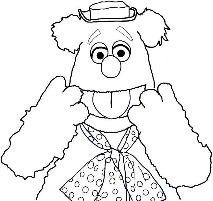 691x653 How To Draw Fozzie Bear From The Muppets Show And Movie In Easy