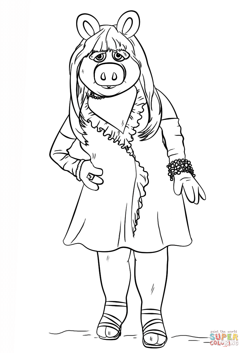 824x1186 Miss Piggy From The Muppets Coloring Page Free Printable