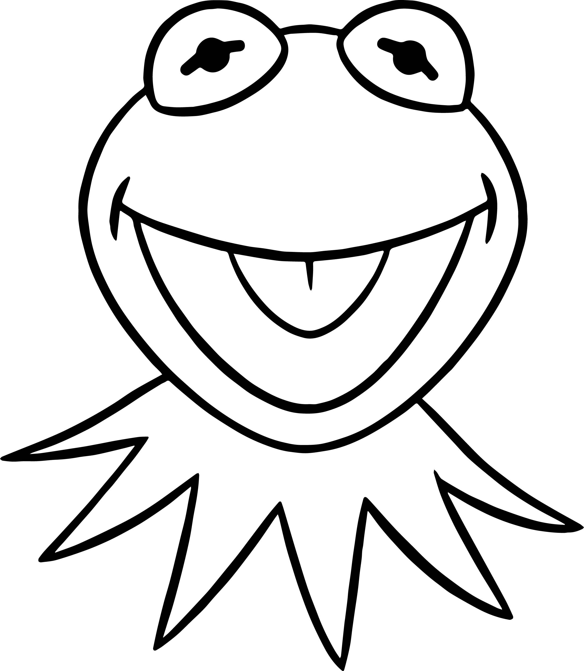 2479x2845 Shocking The Muppets Kermit Frog Coloring Pages Wecoloringpage
