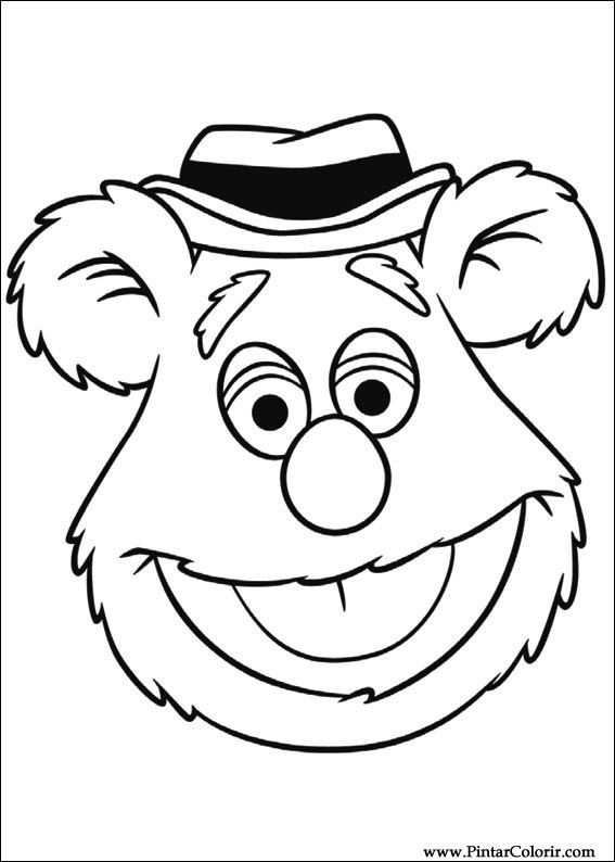 567x794 Drawings To Paint Amp Colour Muppets