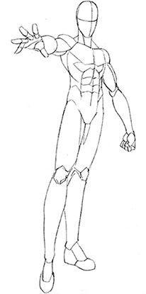 206x415 Draw Manga Male Define Muscles Teen Male Tutorials