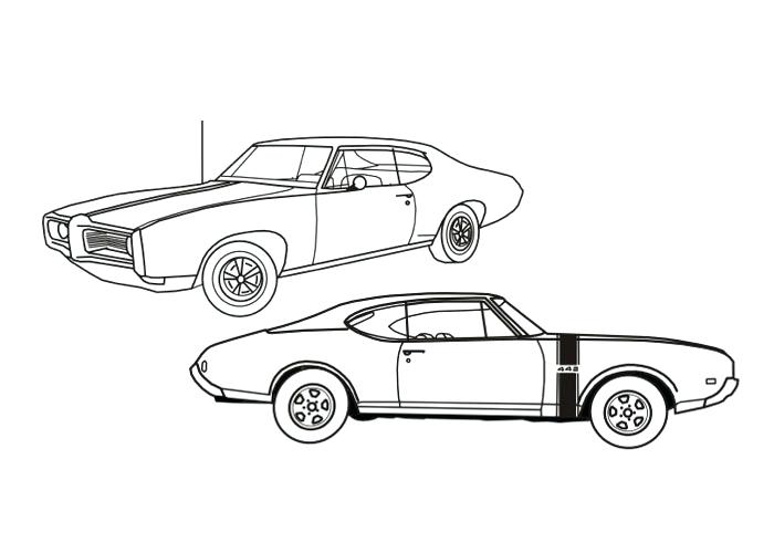 700x500 Pretty Muscle Car Coloring Pages Free Download Printable American