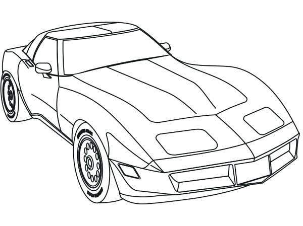 600x449 Pretty Muscle Car Coloring Pages Free Download Race Cars