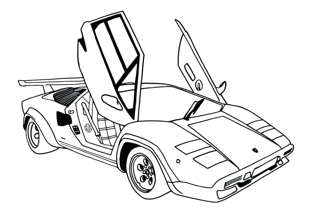 1024x724 Muscle Car Coloring Pages For Adults