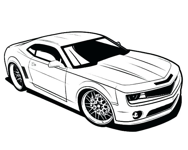 Tesla Car Coloring Pages : Muscle cars drawing at getdrawings free for personal use