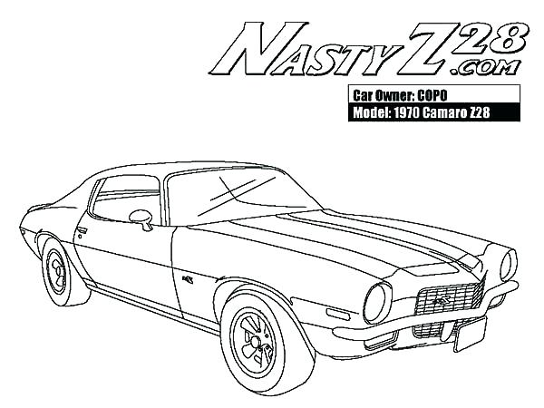 600x450 Camaro Coloring Page Pages Cars