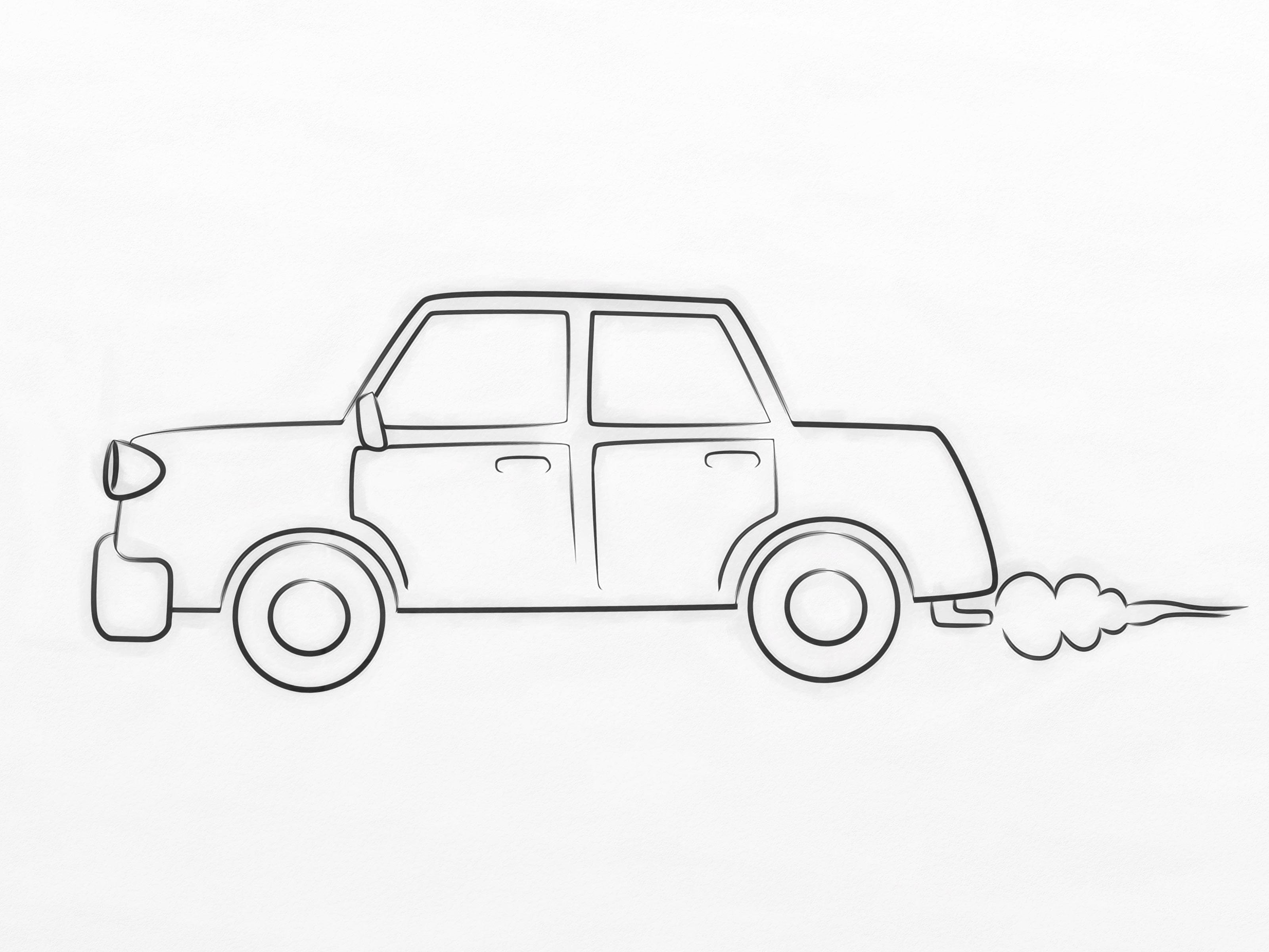 3200x2400 Car Drawing