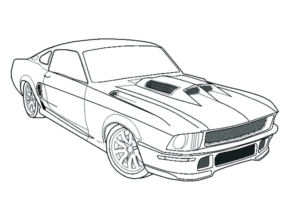 970x728 Cars To Color And Print View Larger Muscle Cars To Color Printable