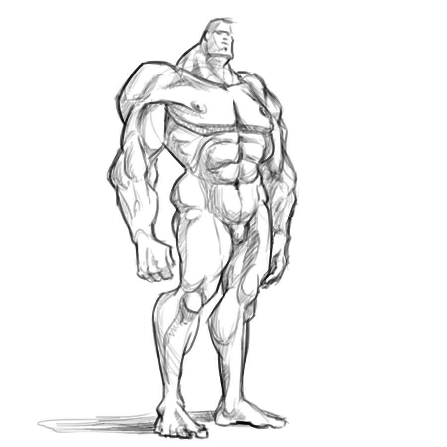 900x900 Muscleman by SuperStinkWarrior on DeviantArt