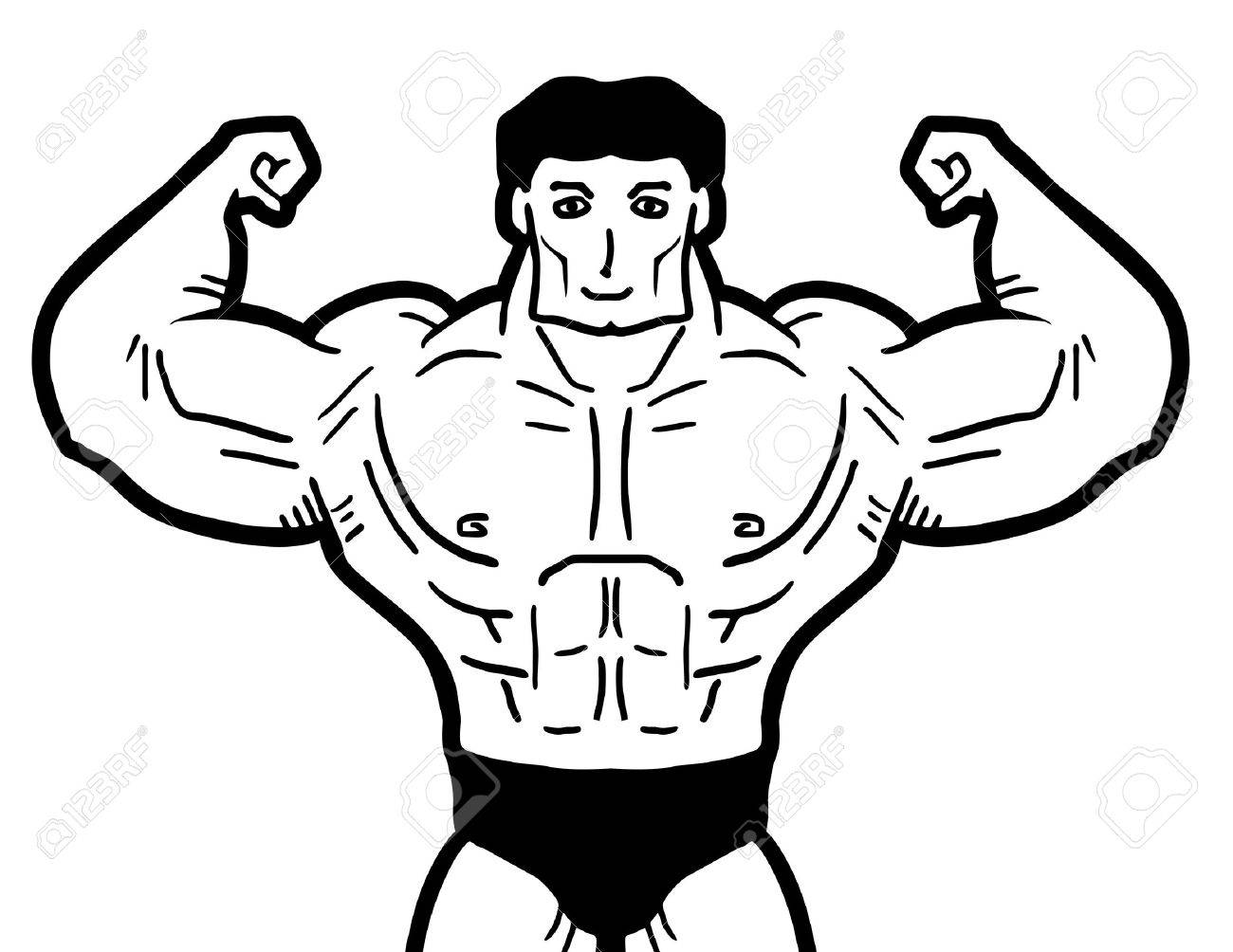 1300x1004 Muscle Man Royalty Free Cliparts, Vectors, And Stock Illustration