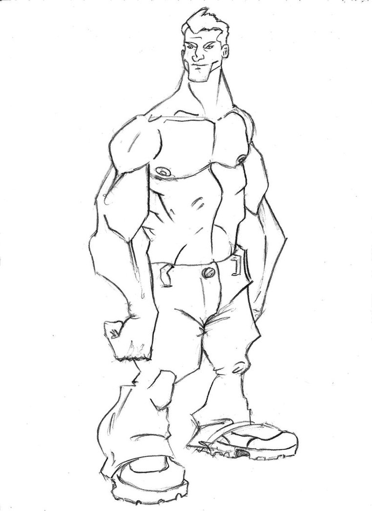 762x1048 Muscle Man By Sebex53
