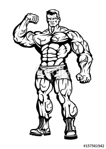 357x500 Gym Logo.bodybuilder The Muscular Body.sexy Man
