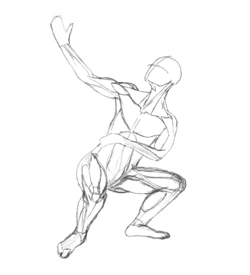 500x550 Adding Muscles Drawing People Muscles, Drawing