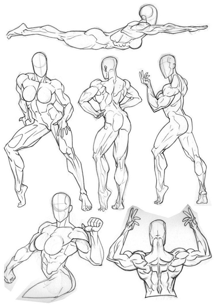 751x1063 Here's Some Figure Practice I'Ve Done Recently. Trying To Get Used