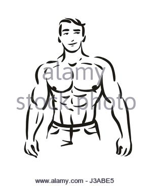 300x368 Arm Strong Man Silhouette Icon Stock Vector Art Amp Illustration