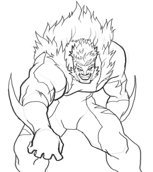 600x674 How To Draw Sabretooth