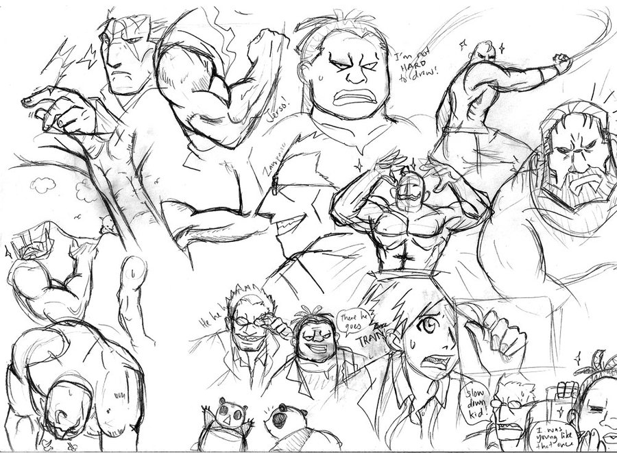 900x661 Fma Muscle Men Sketches By Carrinth
