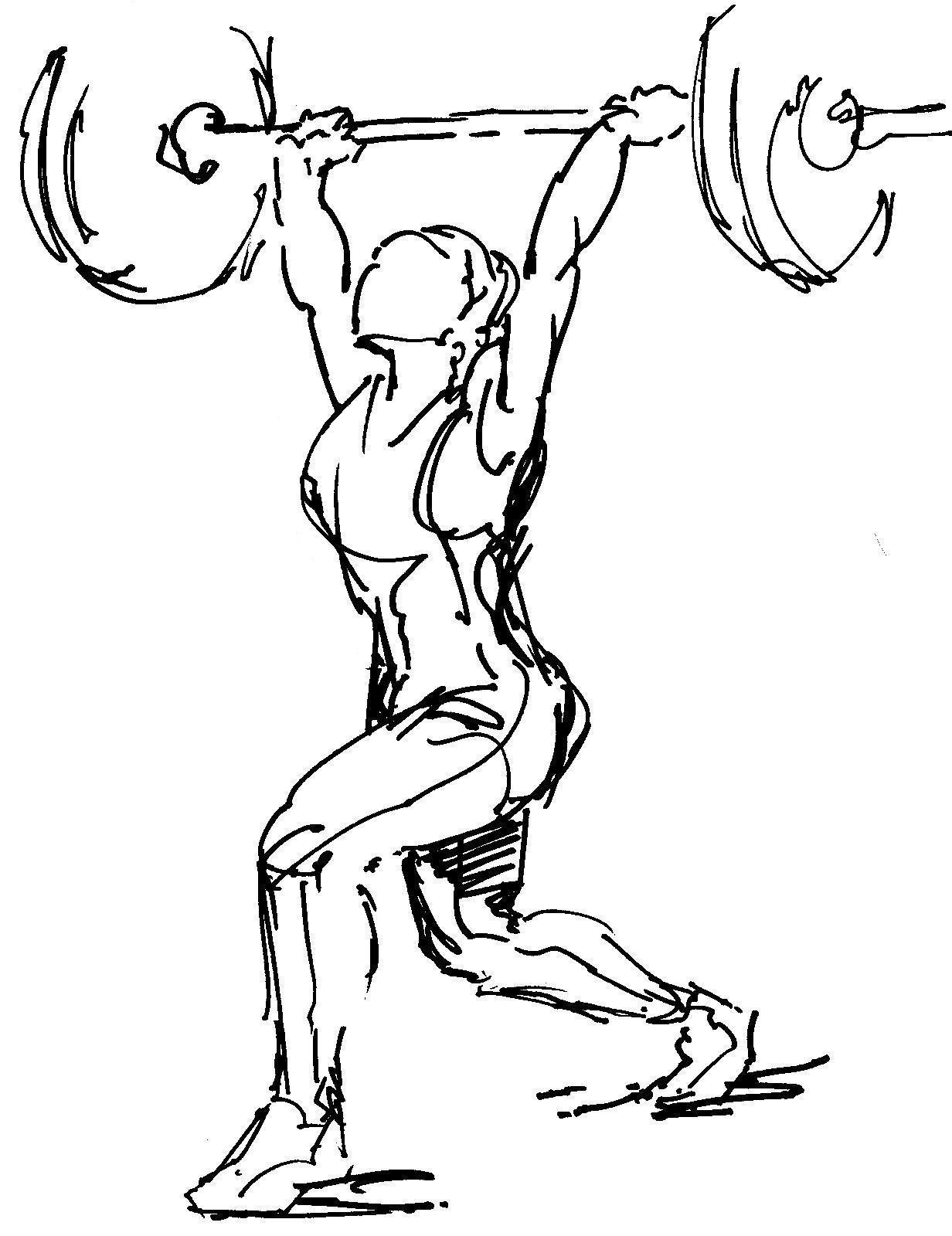 1232x1600 Image Result For Weightlifting Drawing Amazing Art