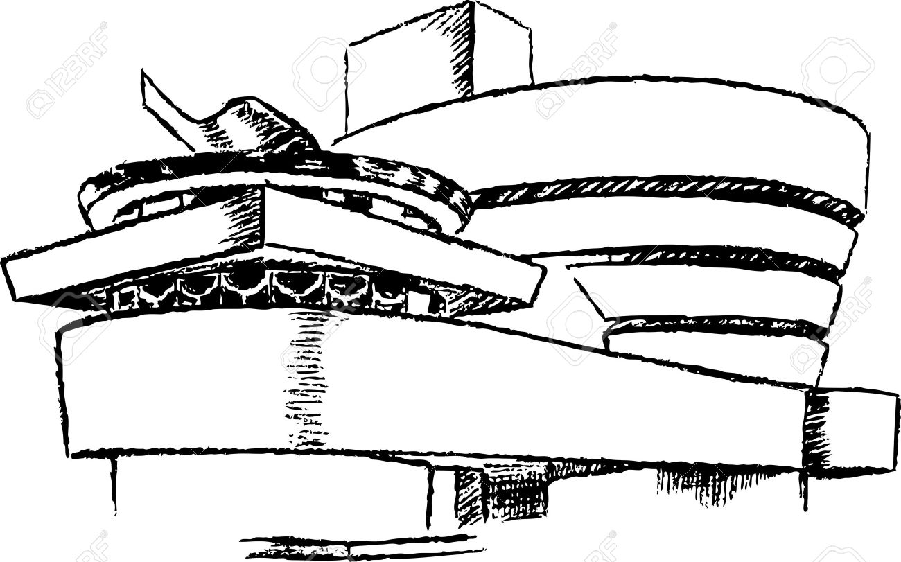 1300x811 Guggenheim Museum In New York City Royalty Free Cliparts, Vectors