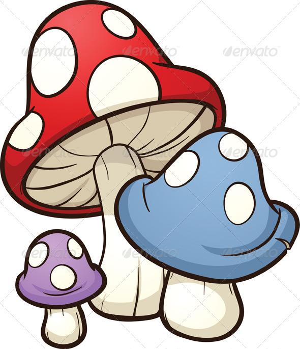 590x685 Cartoon Mushrooms By Memoangeles Graphicriver