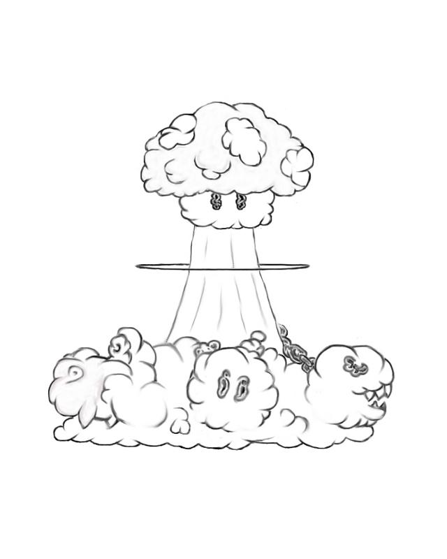 Mushroom Cloud Drawing at GetDrawings com | Free for