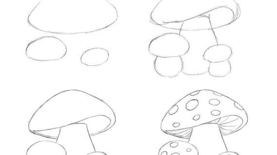 570x320 How To Draw A Mushroom Draw A Mushroom Cloud Step Step Drawing