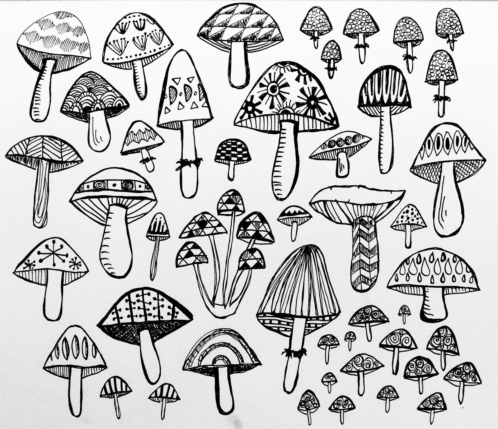 1600x1380 The Rare Pear Studio Blog How To Draw A Mushroom Because I