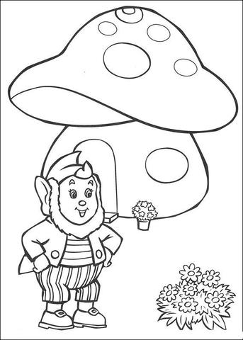 Mushroom House Drawing