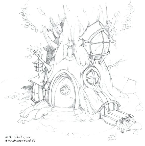 586x591 Fairy House Coloring Pages Fairy House Coloring Pages Fairy