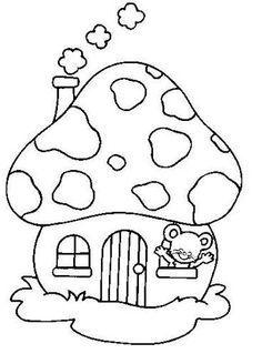 236x328 Moldes Casas On Mushroom House, Gnome Home