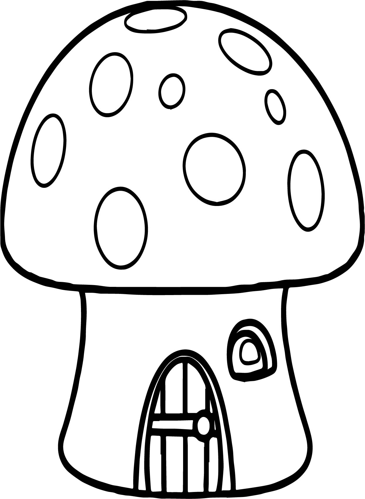 1244x1703 Mushroom House Coloring Page Mushroom Coloring Pages For Adults
