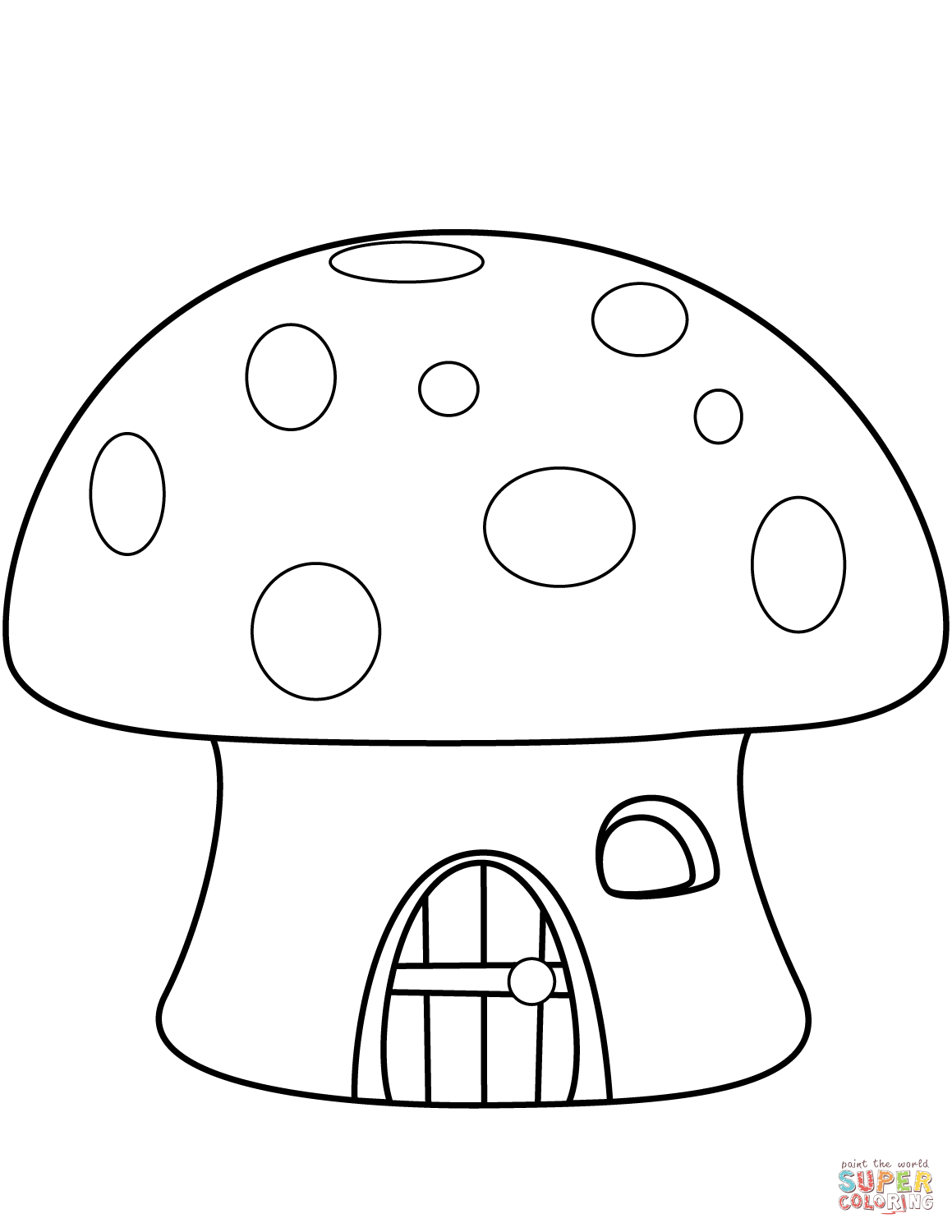 1159x1500 Mushroom House Coloring Page Mushroom Coloring Pages For Adults