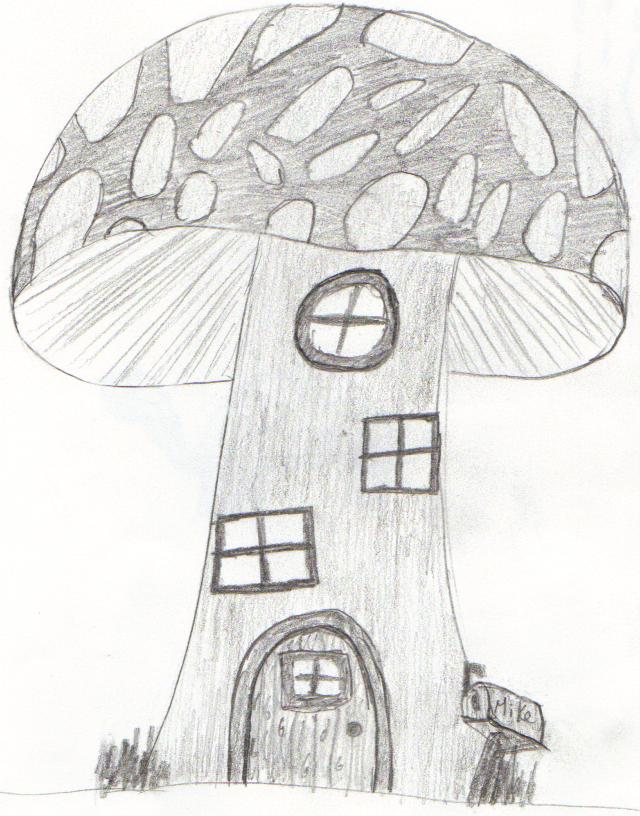 640x816 Mushroom House By Rokuryuu