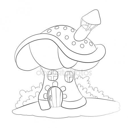 450x450 Mushroom House Stock Vectors, Royalty Free Mushroom House