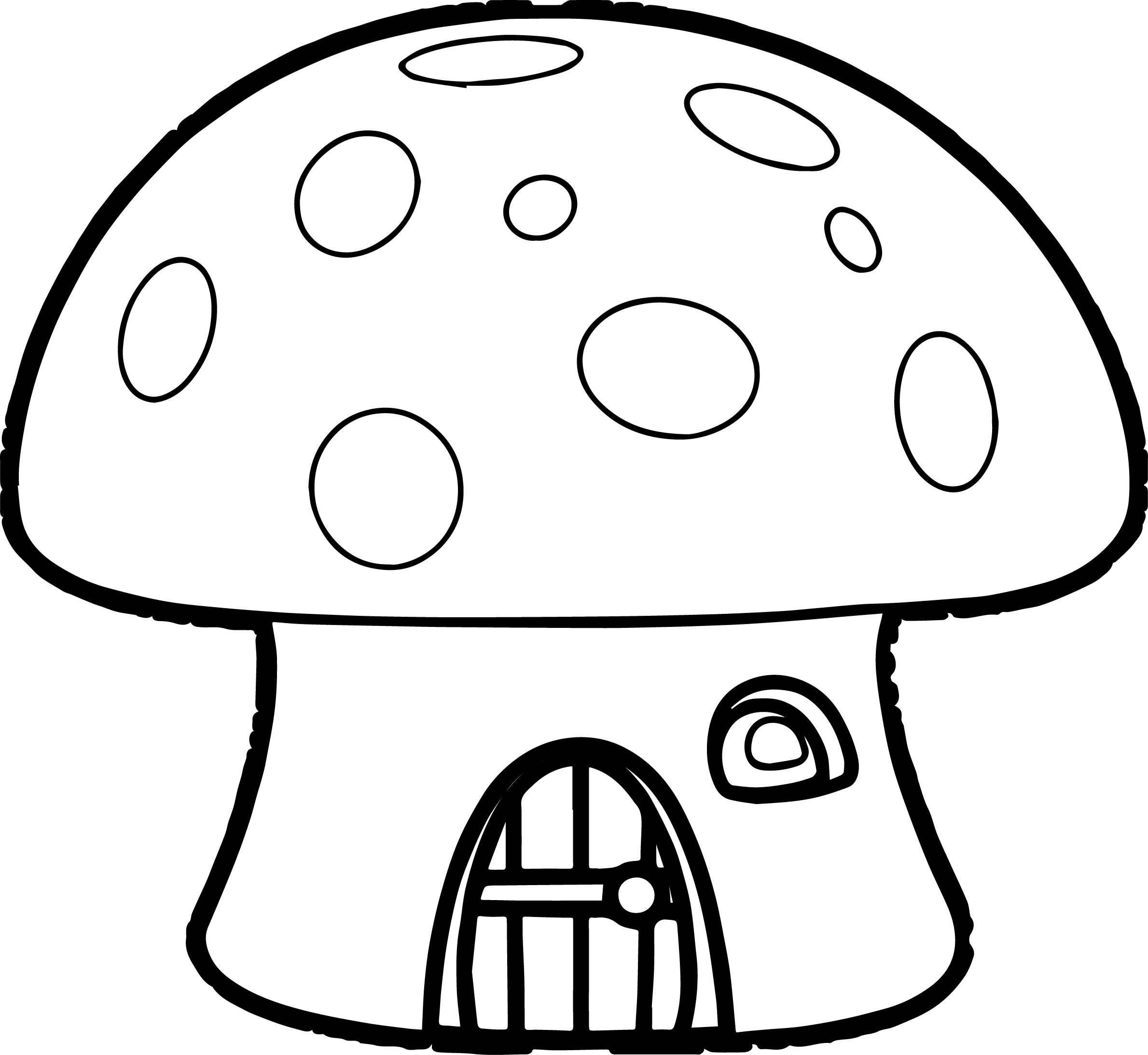 2379x2186 Mushrooms House Coloring Page For Kids New Coloring Pages Mushroom