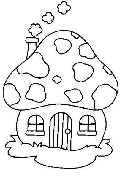590x636 Smurf Mushroom House Coloring Pages 431x600 The 17 Best Images About Quilting Outlines On Pinterest