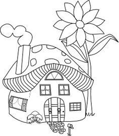236x269 Mushroom House Drawing
