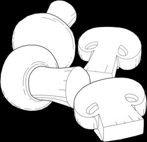 298x288 Mushrooms Outline Clip Art