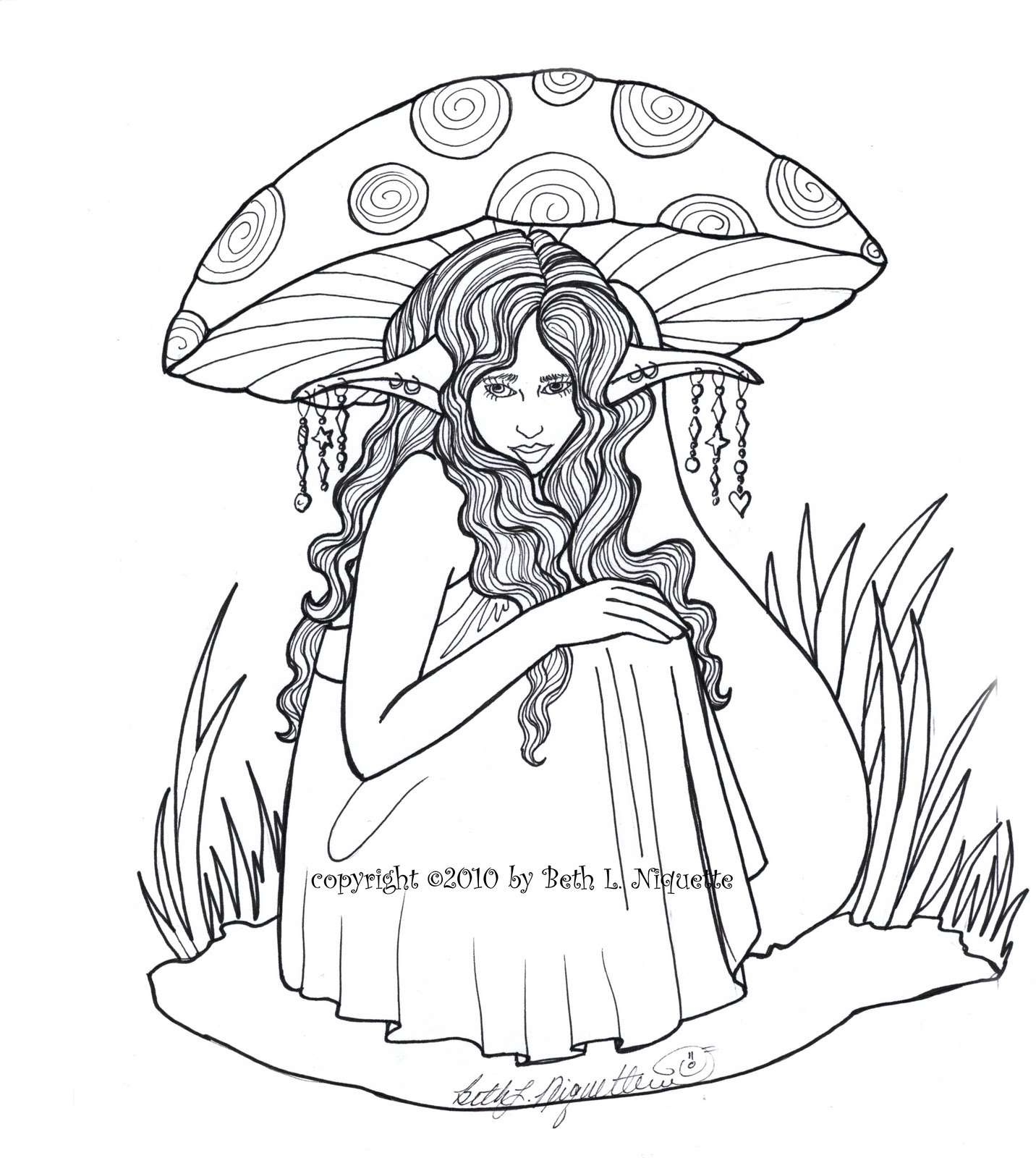 1432x1600 Beth's Artworx Beneath The Mushroom