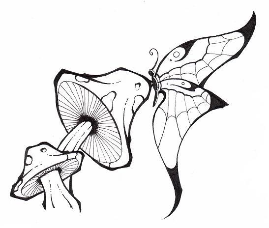 547x464 Drawn Graffiti Mushroom