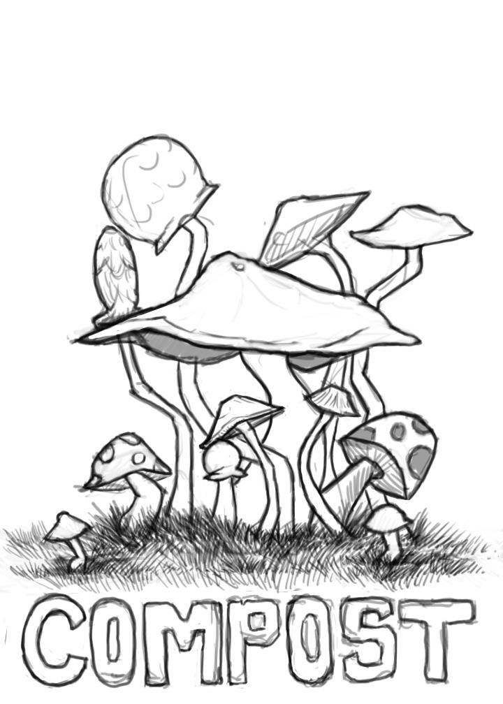 720x1008 Trippy Mushroom Art Drawings The Art Of Gurr Mushroom Doodly