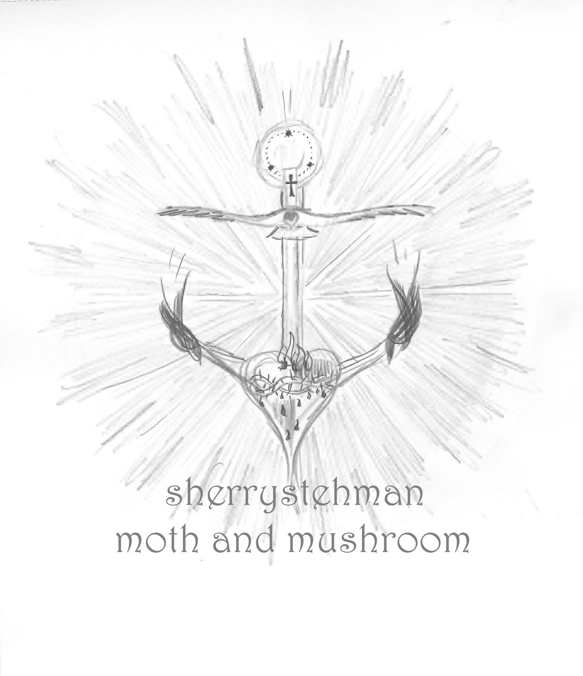 1921x2225 Anchor Pencil Sketch Sherrystehman Moth Mushroom Moth