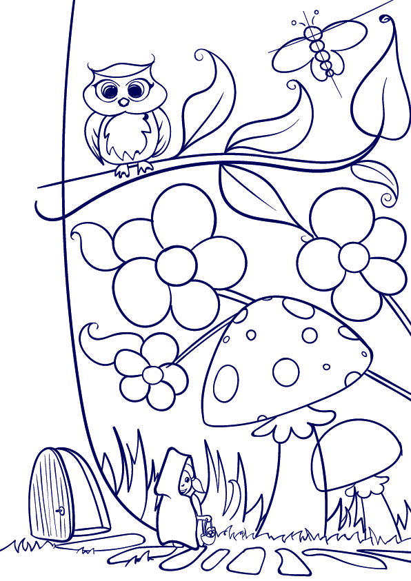 596x843 Learn How To Draw A Mushroom