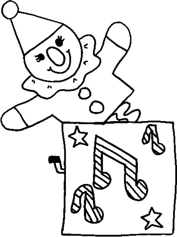600x803 Jack In The Box Music Coloring Page Coloring Sky