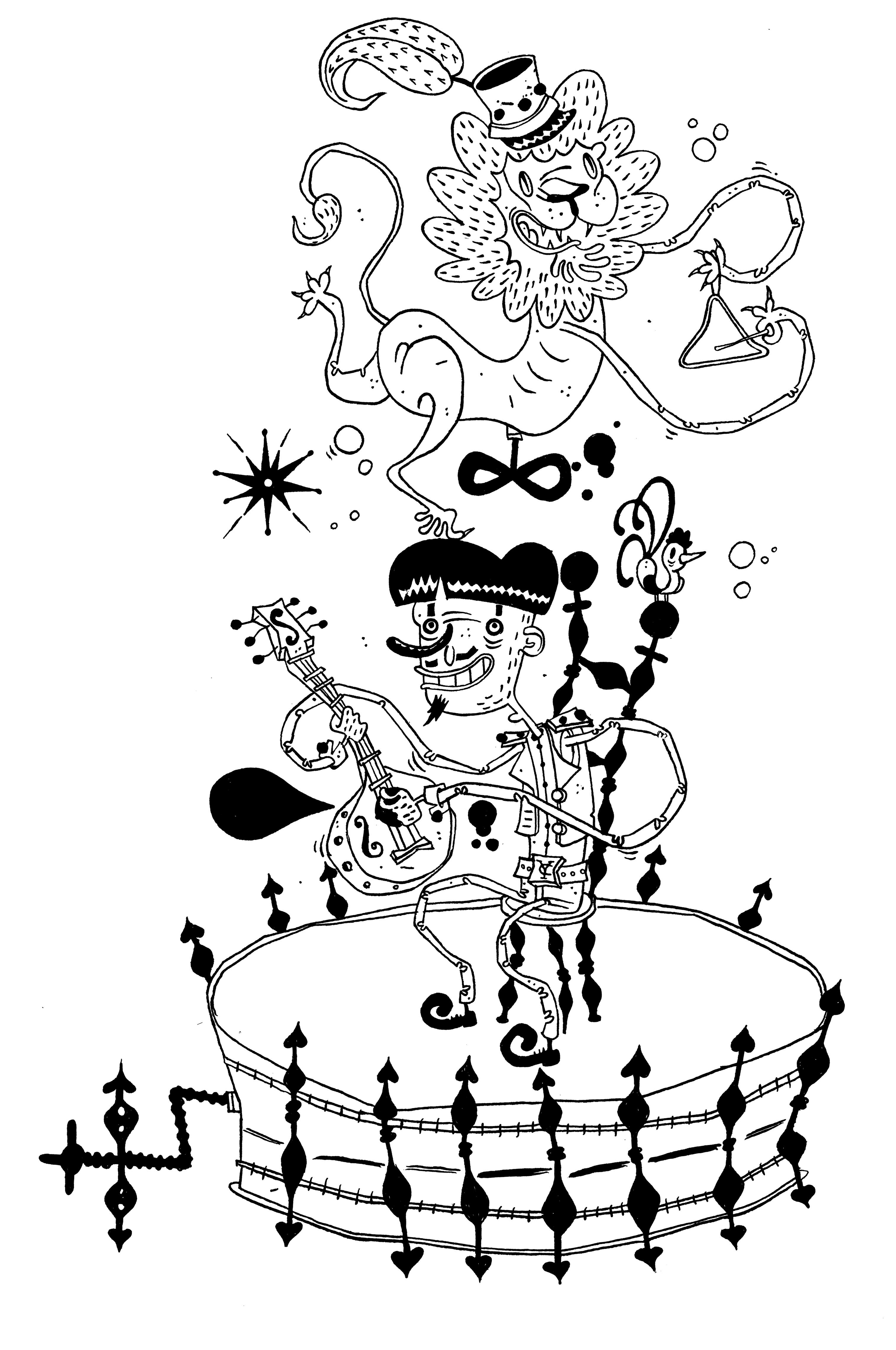 3029x4563 Music Box T Shirt Yann Crozet Art Director Illustrator