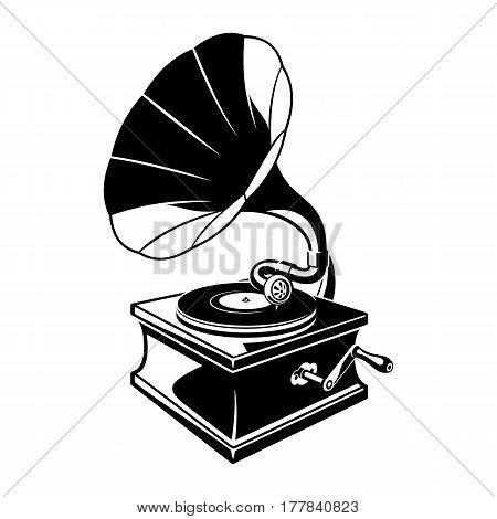 450x470 Vintage Gramophone Sketch. Classic Vector Amp Photo Bigstock