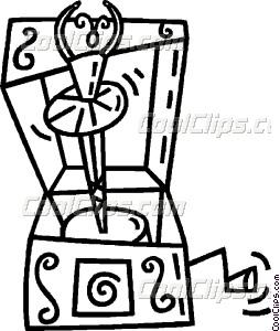 254x300 Music Box Vector Clip Art