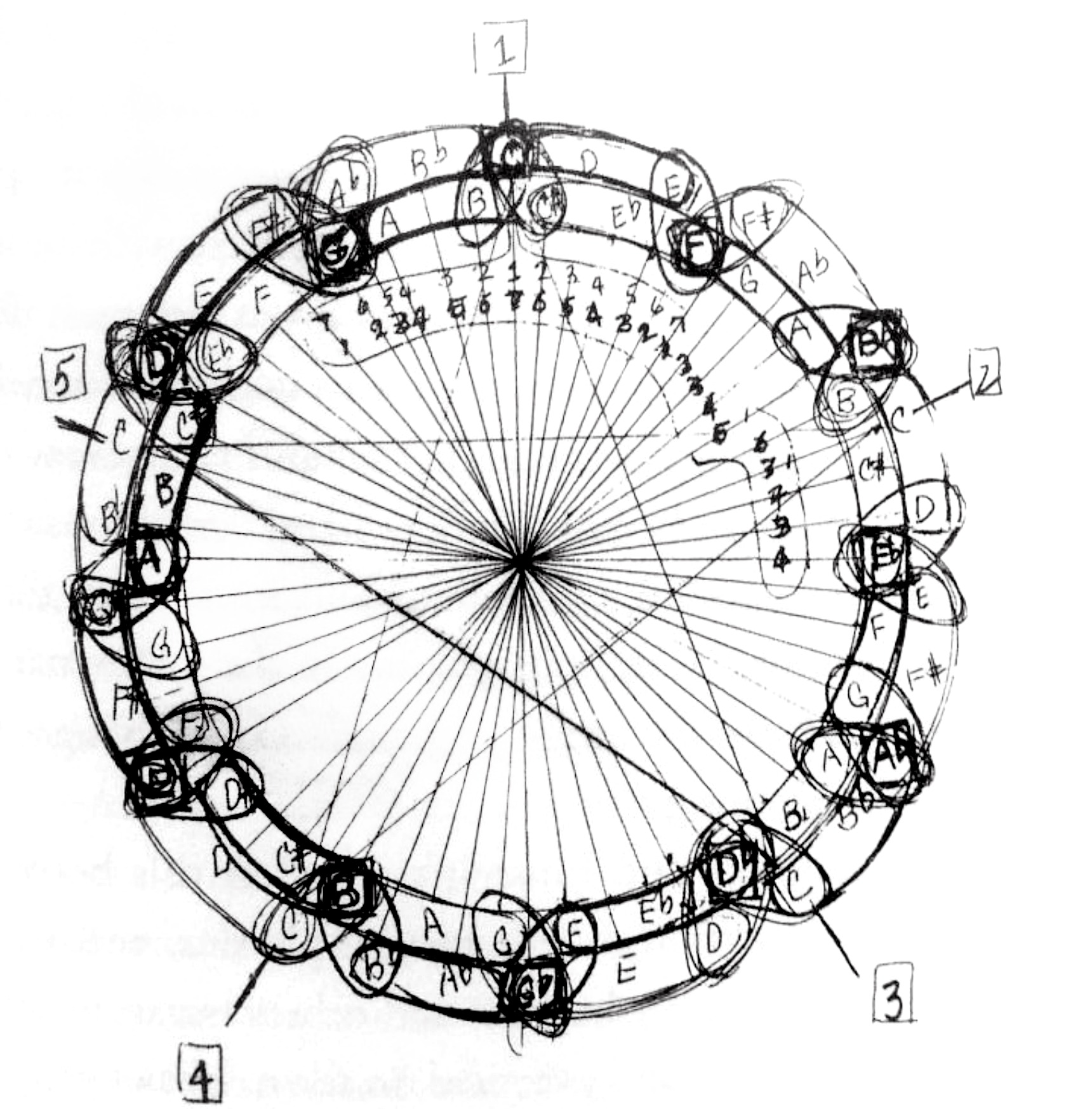 1720x1747 John Coltrane's Drawing Of The Mathematical Soul Of Music