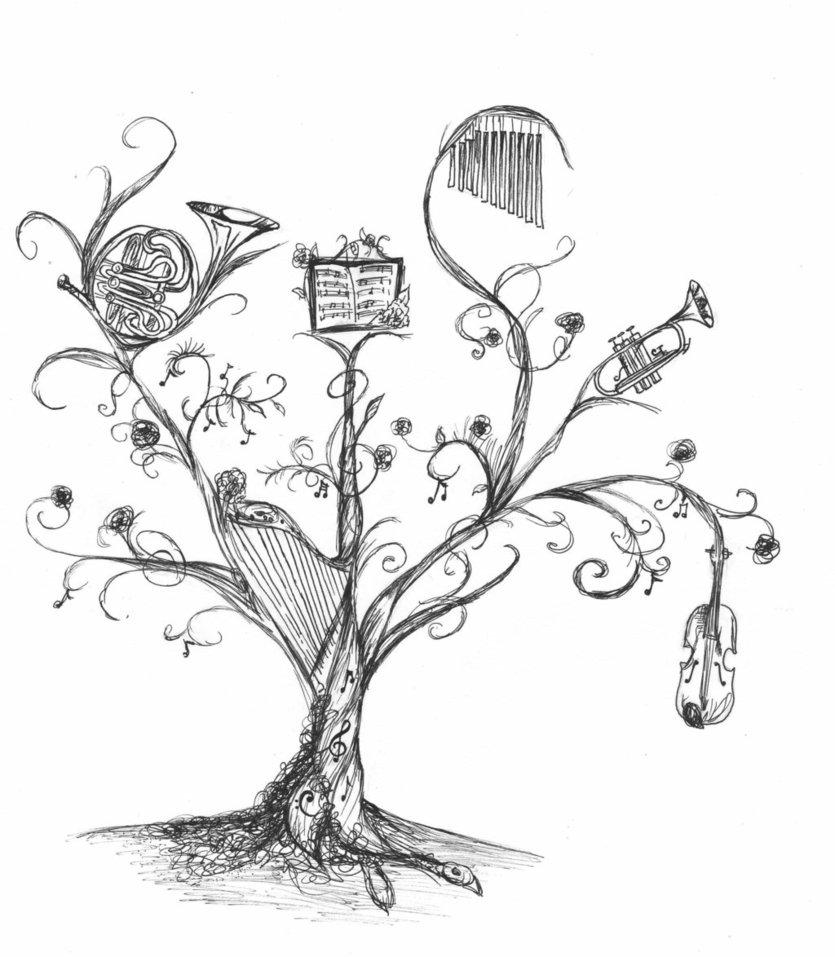 835x957 Music Tree By Aradhoniel